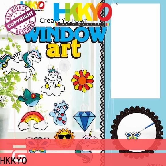 HKKYO wooden MDF craft kits for kids Supply for window art