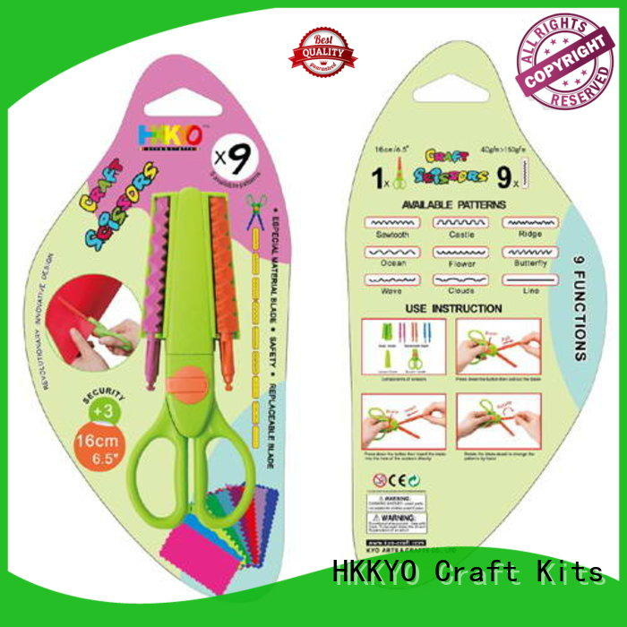 HKKYO many patterns craft scissors set Supply for hands-on activity